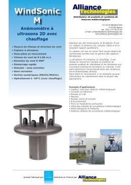 WindSonic M - Alliance Technologies
