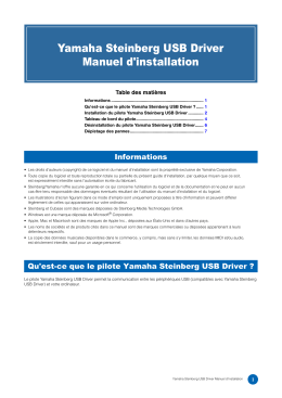 Yamaha Steinberg USB Driver Installation Guide