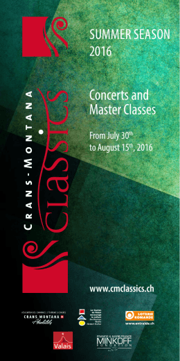 Concerts and Master Classes