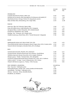 WINE LIST - Riverpark