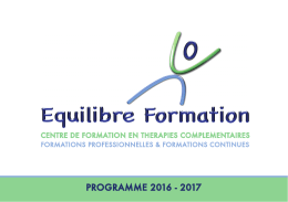 Programme 2016 - Equilibre Formation