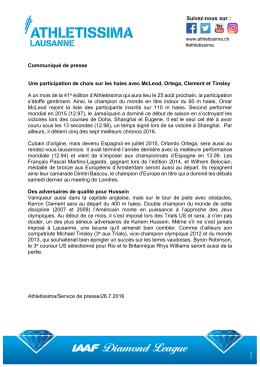Communiqué de presse Une participation de choix sur les haies