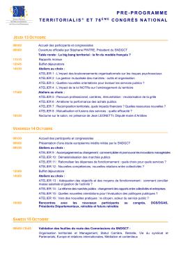 Pré-programme - Localtis.info
