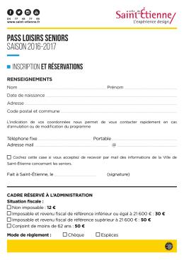 Téléchargez la fiche d`inscription et de - Ville de Saint