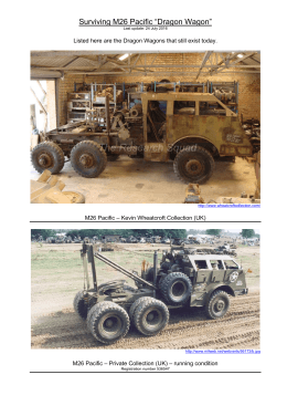 "Surviving M26 Pacific ""Dragon Wagon"" - The Shadock`s website"