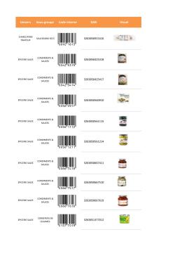 sélection de produits