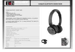 CASQUE BLUETOOTH SHINE NOIR