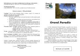 Grand Paradis - Handi Cap Evasion