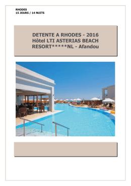 Rhodes du 24 juillet au 07 août