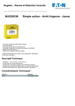 NUG30336 Simple action - Arrêt Urgence - Jaune
