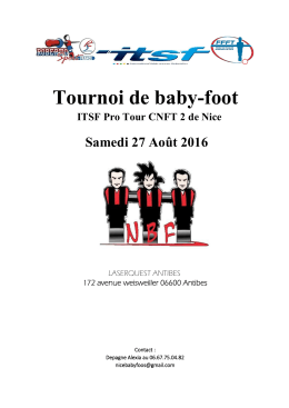 Tournoi de baby-foot - International Table Soccer Federation