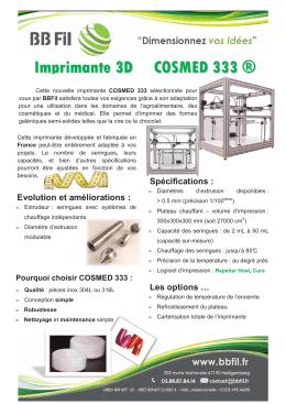 Fiche Imprimante 3D COSMED