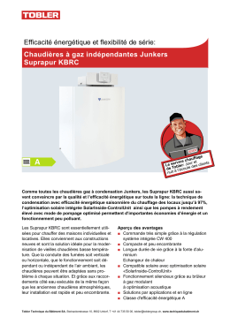 Chaudières à gaz indépendantes Junkers Suprapur KBRC