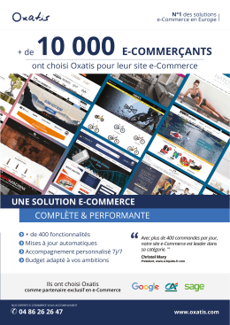 + de 10 000 E-COMMERÇANTS