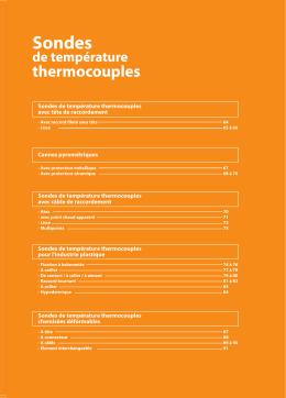 Sondes de température Thermocouples