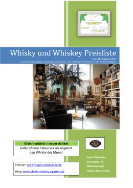 Whisky Preisliste als Pdf