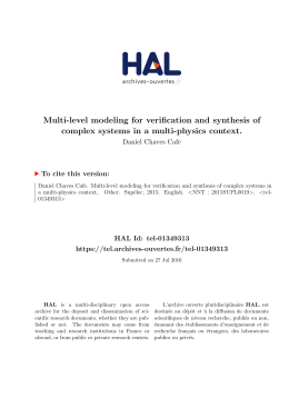 Multi-level modeling for verification and synthesis of - Tel