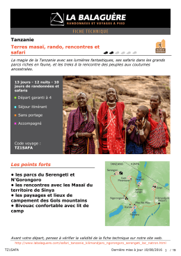 Tanzanie Terres masaï, rando, rencontres et safari