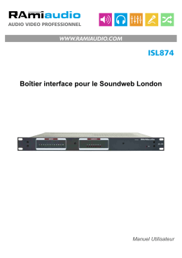 Notice d`utilisation - audio video professionnel