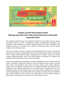 Peoples and the Planet before Profit!