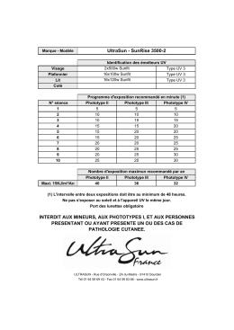 UltraSun - SunRise 3500-2 INTERDIT AUX MINEURS, AUX