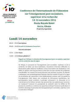 Lundi 14 novembre - Education International