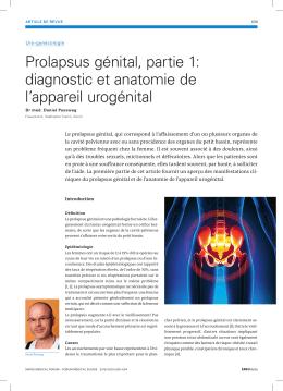 Prolapsus génital, partie 1: diagnostic et anatomie de l`appareil