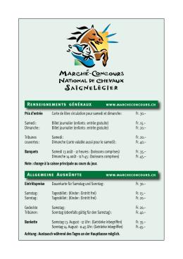 Programm Zürich am Marché Concours 2016