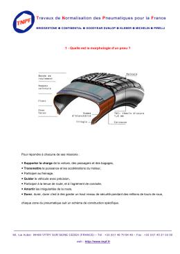 1 - Quelle est la morphologie d`un pneu