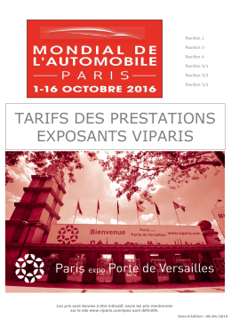 pavillons 1-3-4 et 5 - Mondial de l`Automobile