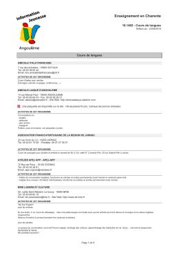 Télécharger la fiche PDF - Centre information Jeunesse Angoulême