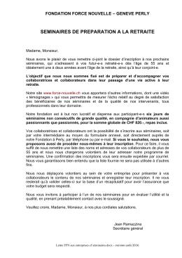 Lettre aux entreprises de Genève