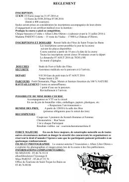 reglement - Courir en Charente