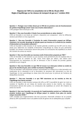 Lire la position - Association Française du Gaz