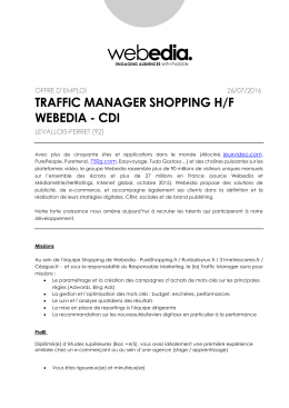 TRAFFIC MANAGER SHOPPING H/F WEBEDIA