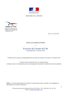 NAR - 02/08/2016 - Ministère de la Défense