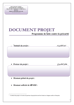 document projet