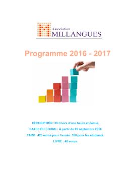 Programme 2016 - 2017
