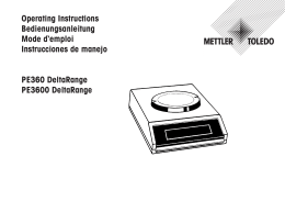 Operating Instructions PE360 DeltaRange and PE3600 DeltaRange