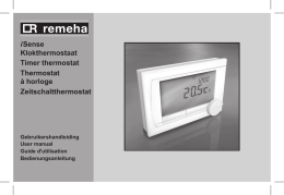 i Sense Klokthermostaat Timer thermostat Thermostat à