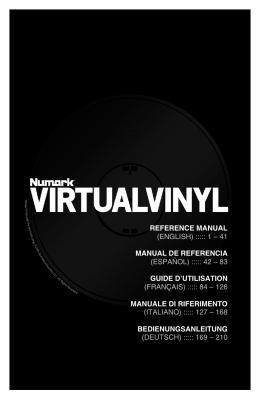 VirtualVinyl Reference Manual - rev1.2