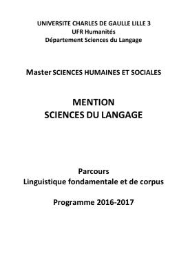 Linguistique fondamentale et de corpus