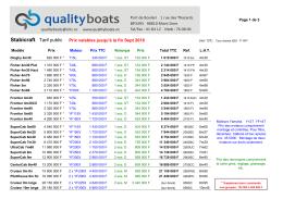 Tarifs - Qualityboats