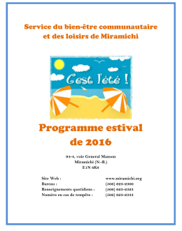 2016 Guide du Programme