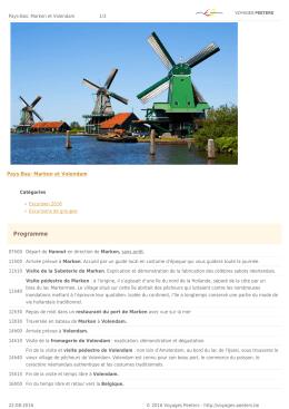 Pays-Bas: Marken et Volendam