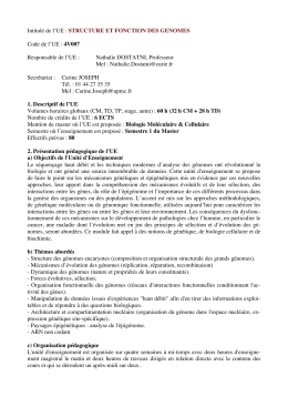 4V007 - Master de science et technologie : mention biologie