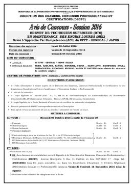AVIS CONCOURS SESSION 2016 - Inspection d`Académie de Saint