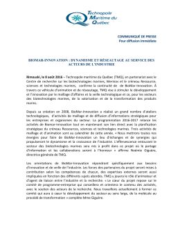 Lettre de nouvelles 2 - Technopole Maritime du Québec