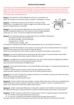Exercices de mise en équation Exercice 1 : Pour - No