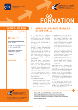 FORMATION + - Chambre des salariés